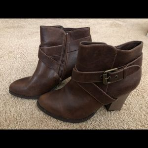 Guess Brand Brown Leather Boots